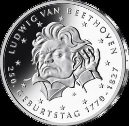 "20-Euro-Silbermünze ""250. Geburtstag Ludwig van Beethoven"" Spiegelglanz"