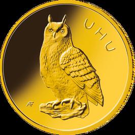 "20€-Goldmünze 2018 ""Uhu"" - Serie ""Heimische Vögel"""
