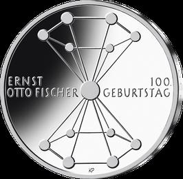"""20-Euro-Silbermünze 2019 """"100. Geburtstag Ernst Otto Fischer"""" Spiegelglanz"""