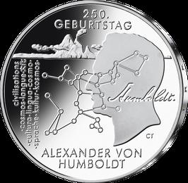 """20-Euro-Silbermünze 2019 """"250. Geburtstag Alexander von Humboldt"""" Stempelglanz"""