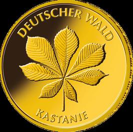 """20€-Goldmünze 2014 """"Kastanie"""" - Serie """"Deutscher Wald"""""""