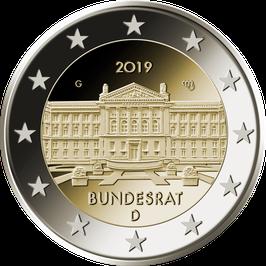 """2-Euro-Münze """"Bundesrat"""" Spiegelglanz Satz ADFGJ"""
