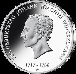 """20€-Silbermünze """"300. Geburtstag J. J. Winckelmann"""" Spiegelglanz"""