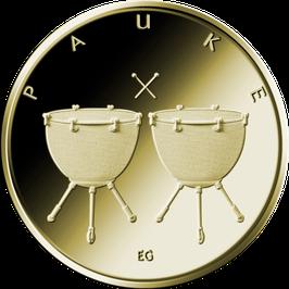 "50 Euro Goldmünze 2021 ""PAUKE"" - Serie ""Musikinstrumente"""
