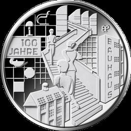 """20-Euro-Silbermünze 2019 """"100 Jahre Bauhaus"""" Spiegelglanz"""