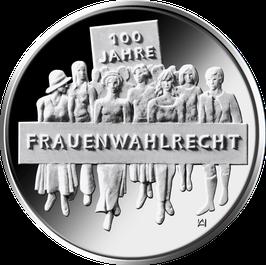 """20-Euro-Silbermünze 2019 """"100 Jahre Frauenwahlrecht"""" Spiegelglanz"""