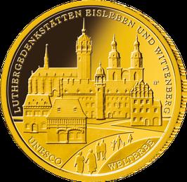 """100-Euro-Goldmünze 2017 """"Luthergedenkstätten Eisleben und Wittenberg"""""""