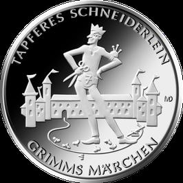 """20-Euro-Silbermünze 2019 """"Tapferes Schneiderlein"""" Spiegelglanz"""