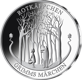 """20€-Silbermünze 2016 """"Rotkäppchen"""" Stempelglanz"""