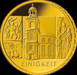 """100 Euro Goldmünze 2020 """"Einigkeit"""" - Serie """"Säulen der Dekokratie"""""""