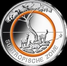 """5€-Münze 2018 """"Subtropische Zone"""" Stempelglanz"""
