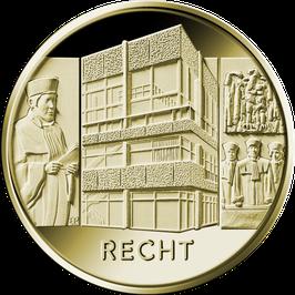 """100 Euro Goldmünze 2021 """"Recht"""" - Serie """"Säulen der Dekokratie"""""""