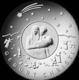 """25 Euro Silbermünze 2021 """"WEIHNACHTEN - GEBURT CHRISTI"""" Spiegelglanz"""