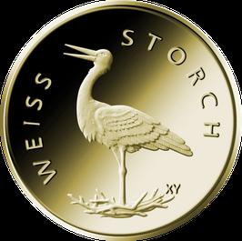 """20€-Goldmünze 2020 """"Weißstorch"""" - Serie """"Heimische Vögel"""""""