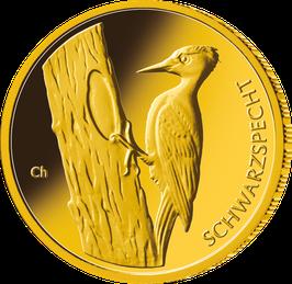"20€-Goldmünze 2021 ""Schwarzspecht"" - Serie ""Heimische Vögel"""