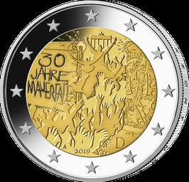 """2-Euro-Münze 2019 """"30 Jahre Mauerfall"""" Stempelglanz"""