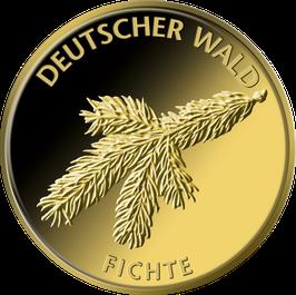 """20€-Goldmünze 2012 """"Fichte"""" - Serie """"Deutscher Wald"""""""