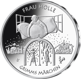 """20€-Silbermünze 2021 """"Frau Holle"""" Spiegelglanz"""