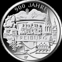 """20-Euro-Silbermünze """"900 Jahre Freiburg"""" Spiegelglanz"""