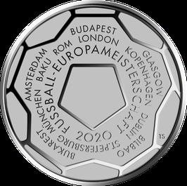 """20€-Silbermünze 2021 """"Fußball-Europameisterschaft 2020"""" Stempelglanz"""