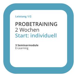 RSMMB: Probetraining mit E-Learning, 2 Wochen, Start: individuell