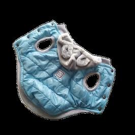 Jacke hellblau mit abnehmbarer Kapuze