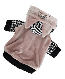 Velour Hoodie rosa Kätzchen