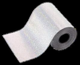 glanzfolie silber | hologramm rain