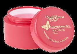 schablonen gel rosa milchig fur problematische nägel