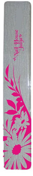 Nagelfeile in Rechteck-Form. Körnung                                 100 x 100 & 150 x 150 & 100 x 180 in der Farbe Zebra 1 Stück