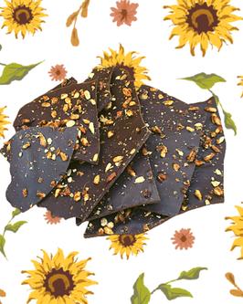 """""""Ecorce de cacao"""" pralin de tournesol et fleur d'oranger"""