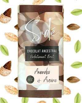 Chocolat brut à la douceur d'avoine et amandes