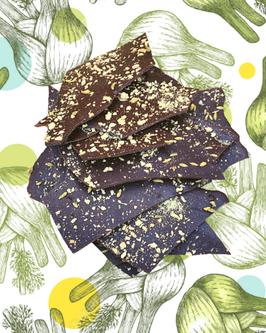"""""""Ecorce de cacao"""" fenouil confit et anis"""