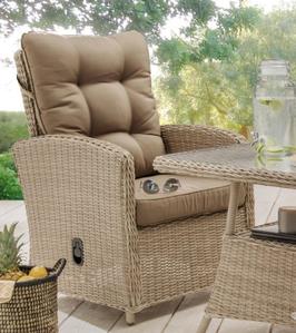 Destiny Loungesessel Merano Pearl Shell Gartensessel Polyrattan Sessel