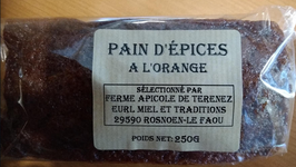 Pain d'épices aux écorces d'orange confites