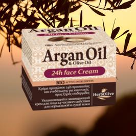 Herbolive 24h Gezichtscrème - Argan & Olive Oil