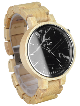 #STONEWATCH black & white maple // 38mm
