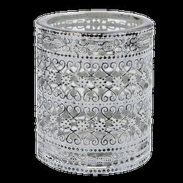 Kerzenglas groß Glas/Metall