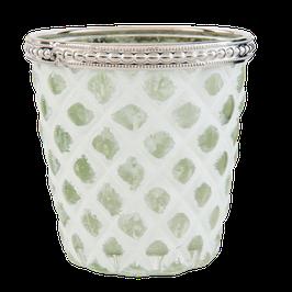 Teelichtglas weiß