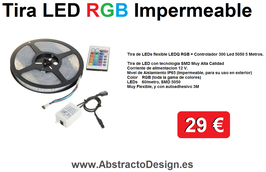 Tira LED RGB + Controlador a distancia