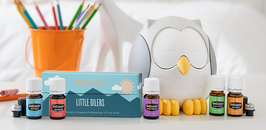 """""""Little Oilers"""" Premium Starter-Kit mit Feather The Owl Ultrasonic Diffuser"""