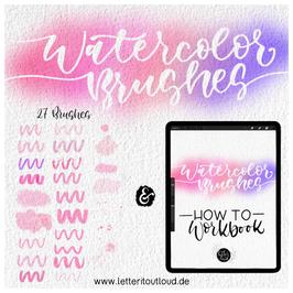Procreate-Watercolor-Brushes II. inkl. Workbook - Download