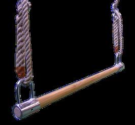 Trapezstange aus Holz mit Ösen
