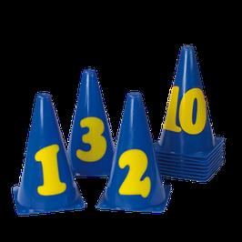 Markierungskegel-Set mit Zahlen