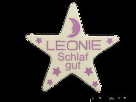 """LED-Stern mit Name """"Schlaf gut"""""""
