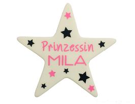 "LED-Stern mit Name ""Prinzessin"" oder ""Prinz"""