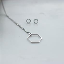 Kette Hexagon Silber