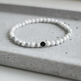 Marmor Armband Silber