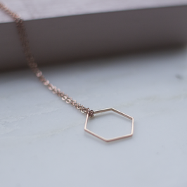 Kette Hexagon Roségold