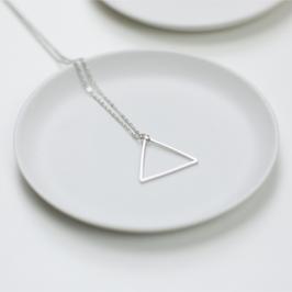 Kette Dreieck Silber